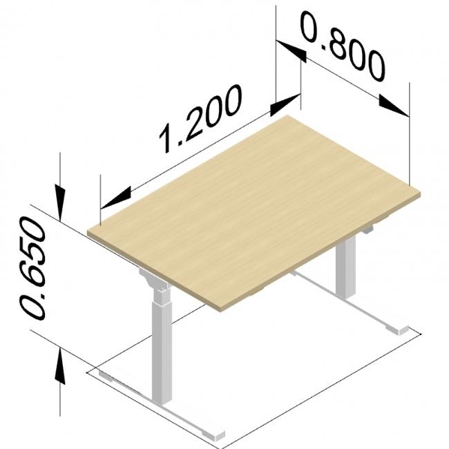 bureau assis debout neo. Black Bedroom Furniture Sets. Home Design Ideas