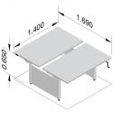 Bureau assis/debout Neo Double