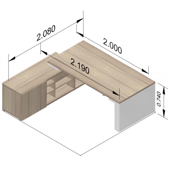 bureau direction mito r glable en hauteur avec armoire. Black Bedroom Furniture Sets. Home Design Ideas
