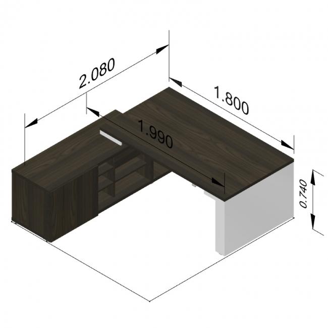 bureau direction mito r glable en hauteur avec armoire desserte. Black Bedroom Furniture Sets. Home Design Ideas