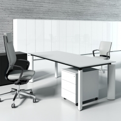 Bureau Direction Verre Crystal