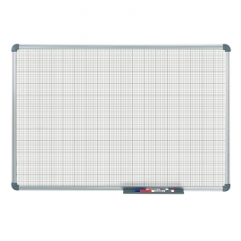 Tableau blanc office quadrillage 10 x 10 mm