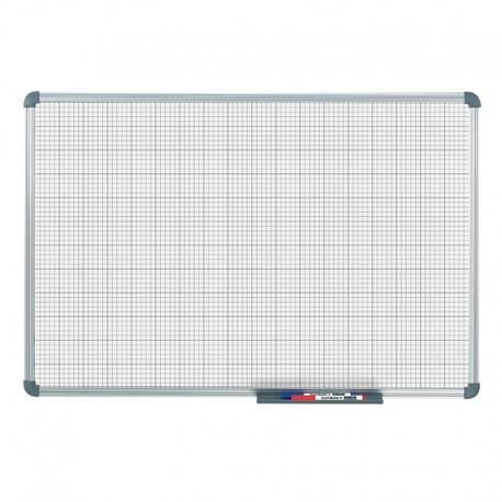 Tableau blanc office quadrillage 10 x 10 mm