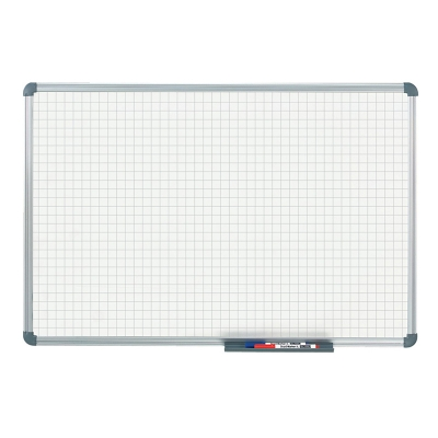Tableau blanc office quadrillage 20 x 20 mm (60 x 90 cm)