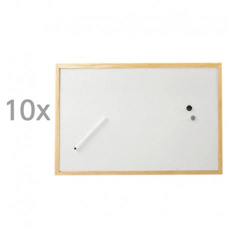 Tableau blanc, cadre bois
