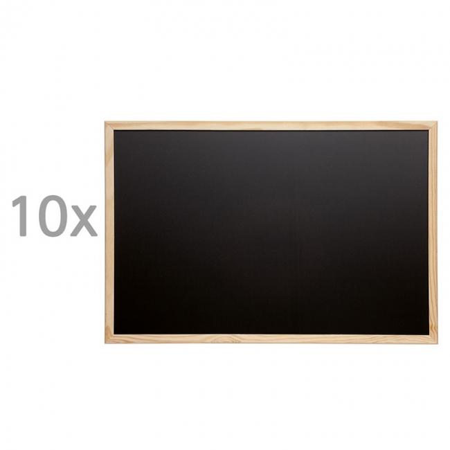tableau pour craie avec cadre bois. Black Bedroom Furniture Sets. Home Design Ideas