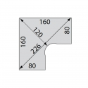 Bureau Star - Plan compact 90 - Symétrique