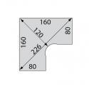 Bureau Mark'up - Plan Compact 90 - Symétrique