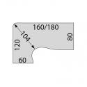Bureau collaborateur Easy Fit - Plan compact 90 - Asymétrique