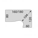 Bureau collaborateur Star - Plan compact 90 - Asymétrique