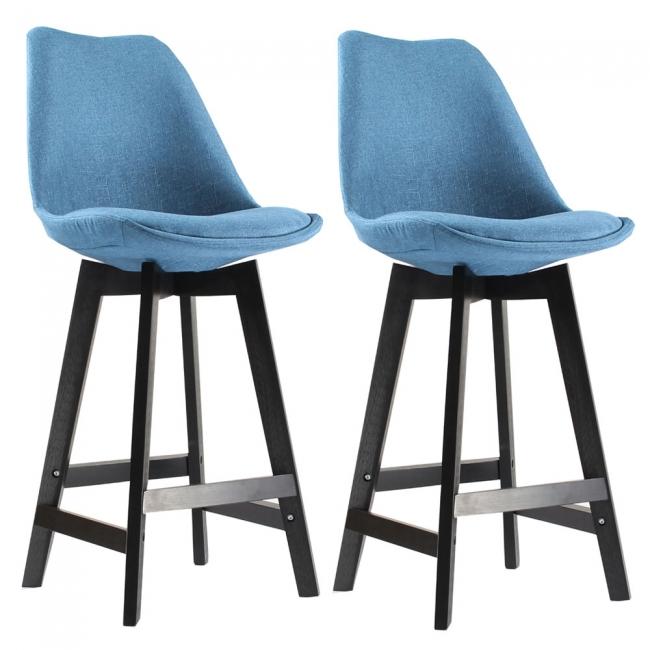 tabouret de bar tissu et. Black Bedroom Furniture Sets. Home Design Ideas