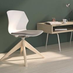 Chaise My ASK - piétement en bois
