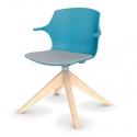 Chaise My Frill - piétement en bois