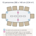 Table Frégate 6 -12 pers.