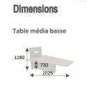 Table Hub - Modèle Bas