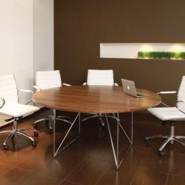 Table de réunion ronde Aero