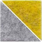 Intérieur gris, extérieur jaune